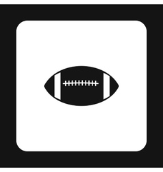 Rugby ball icon simple style vector image