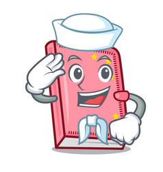 Sailor diary character cartoon style vector