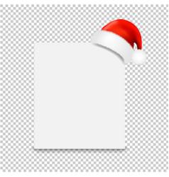 Santa claus cap with banner transparent background vector