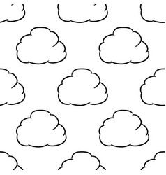 seamless pattern from loud thought of black brush vector image