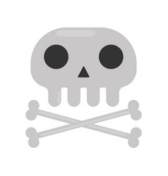 small skull and crossed bones isolated cartoon vector image