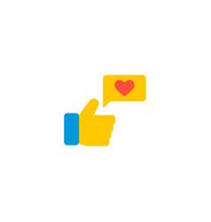 Social engagement icon flat element vector