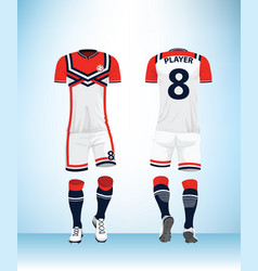 sports jersey template for team uniforms vector image