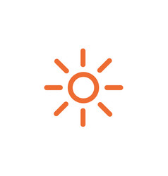 sun shining outline icon linear style sign for vector image