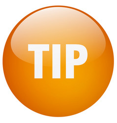 Tip orange round gel isolated push button vector