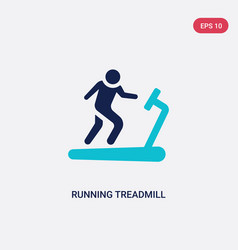 Two color running treadmill icon from gym and vector