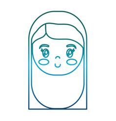 Virgin mary icon vector