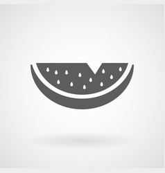 watermelon line icon on white background vector image