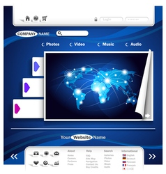 website design vector image