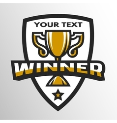 Winner Sports trophy logo emblem vector