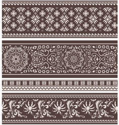 fashion floral scroll pattern vector image