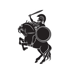 Gladiator with a spear vector