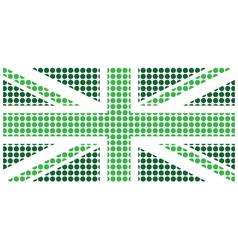 Green United Kingdom Flag vector image