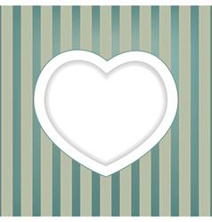 heart retro background vector image vector image