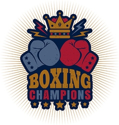 kings boxing dark blue vector image vector image