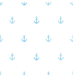 Marine watercolor seamless pattern of anchors vector image