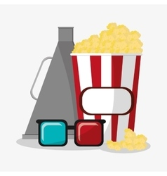 Pop corn cinema and movie design vector image vector image