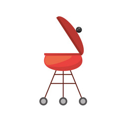 red grill cooking picnic vector image vector image