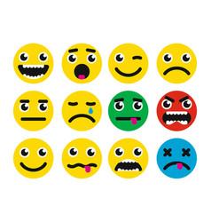 round smiles icon vector image