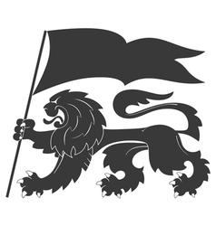 Heraldic lion33 vector
