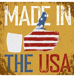 Made in the USA Vintage poster Retro Thum vector image