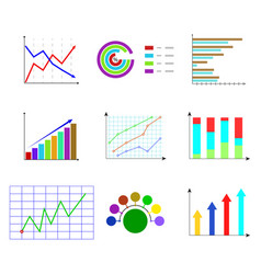 set of template color chart and graphic vector image vector image