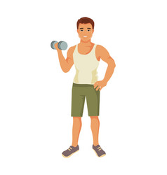 sporty man vector image