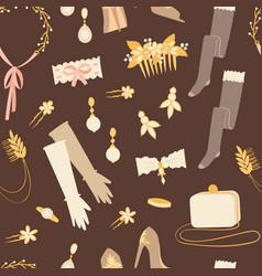 wedding fashion bride dress doodle style vector image vector image