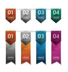 Geometric colorful Modern Design button vector image