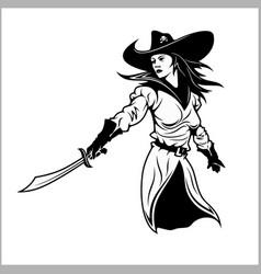 Girl pirate - vector
