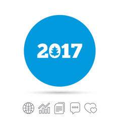 happy new year 2017 sign icon calendar date vector image vector image