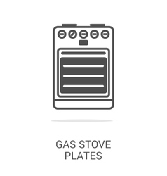 icon gas equipment vector image