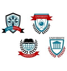 Set of university and education emblems vector