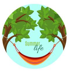 summer life with hammock vector image