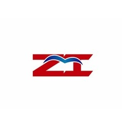 Zi company linked letter logo vector