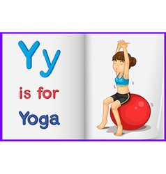 A picture of yoga in a book vector image vector image