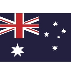 australian flag country symbol vector image