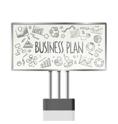 Business Charts In Billboard vector image