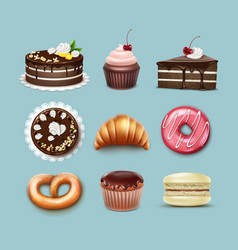 confectionery set vector image vector image