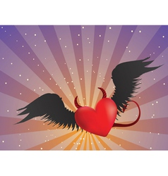 Evil heart vector image