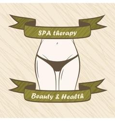 Female body Spa health fitness banner vector image