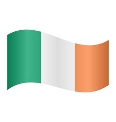 Flag of Ireland waving vector image