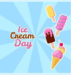 happy ice cream day suitable vector image