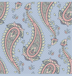 seamless pattern paisley ornamental background vector image