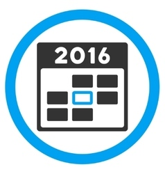 2016 Organizer Day Icon vector