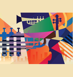 Abstract jazz poster music background vector