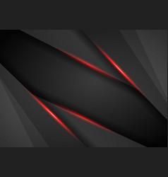 abstract metallic modern red black frame design vector image