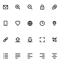 Apple Watch Icons 1 vector