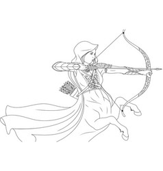 beautiful woman warrior quentaur vector image