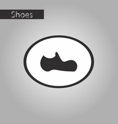 Black and white style icon man shoe vector